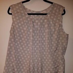 Grey polka dot Merona sleeveless top.  Size XXL